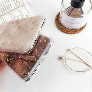 Accessories - NEW iPhone XR Brown and Gold Foil Case